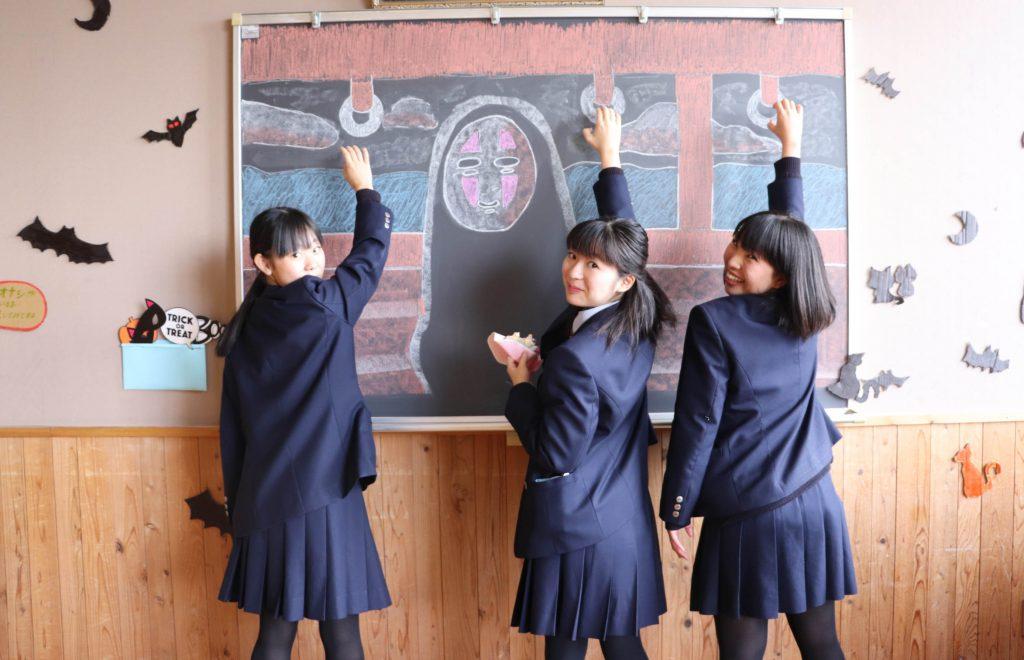 黒板のカオナシ